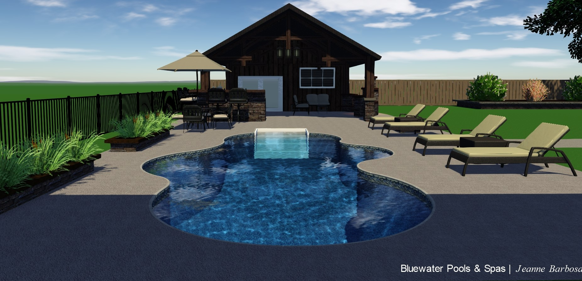 Bluewater Pools & Spas Inground Pool Design