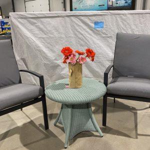 Savoy aluminum dining chairs